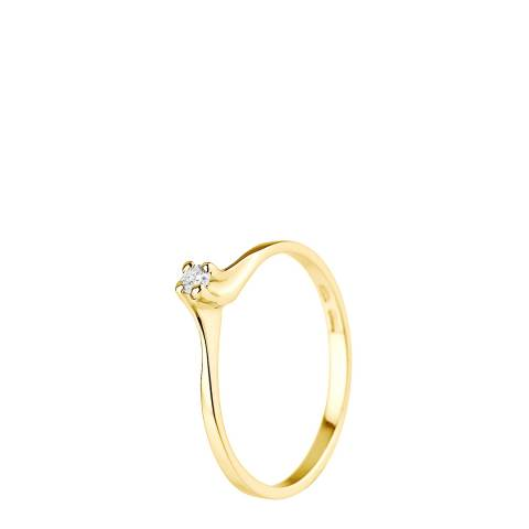 Pretty Solos Yellow Gold 0.06 cts Solitaire Diamond Ring