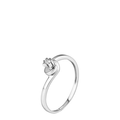 Pretty Solos White Gold 0.04 cts Solitaire Diamond Ring