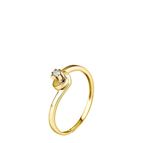 Pretty Solos Yellow Gold 0.04 cts Solitaire Diamond Ring