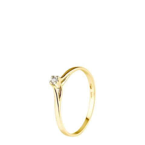 Pretty Solos Yellow Gold 0.03 cts Solitaire Diamond Ring
