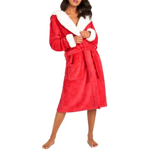 Chelsea Peers Red The Snuggle Is Real Fluffy Dressing Gown