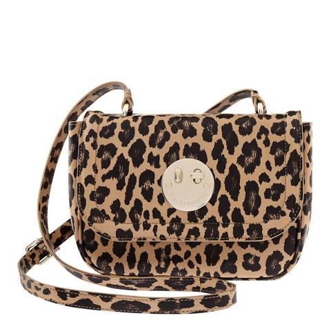 Hill & Friends Natural Leopard Printed Calf Happy Bag