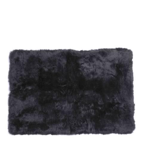 AUSKIN Black Longwool Sheepskin Rug 120 x 180cm