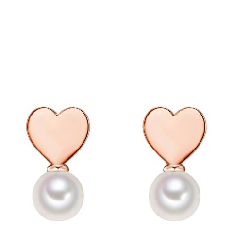 The Pacific Pearl Company Rose Gold Plated Fresh Water Cultured Pearl Earrings