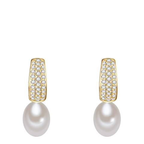 The Pacific Pearl Company Earring Sterling Silver Fresh Water Cultured Pearl (s)