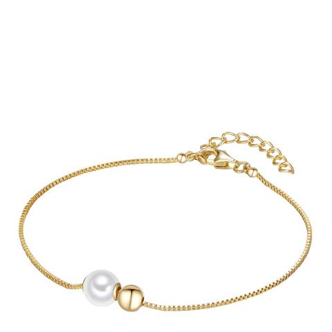 The Pacific Pearl Company Yellow Gold Plated Fresh Water Cultured Pearl Bracelet
