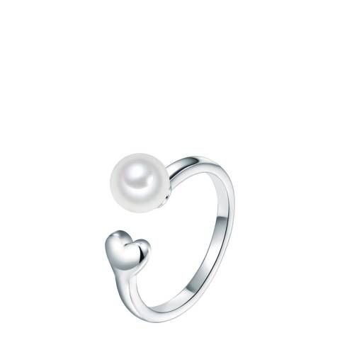 The Pacific Pearl Company Silver Plated Fresh Water Cultured Pearl Ring