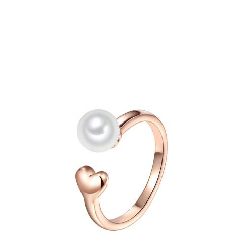 The Pacific Pearl Company Rose Gold Plated Fresh Water Cultured Pearl Ring