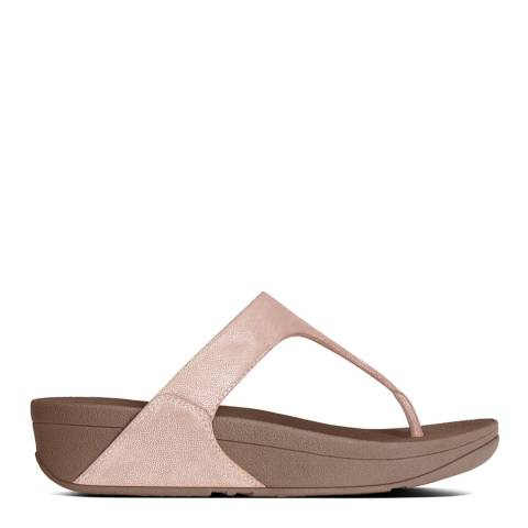 FitFlop Rose Gold Suede Shimmy Toe Post Sandals