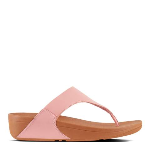 FitFlop Dusky Pink Leather Lulu Toe Post Sandals