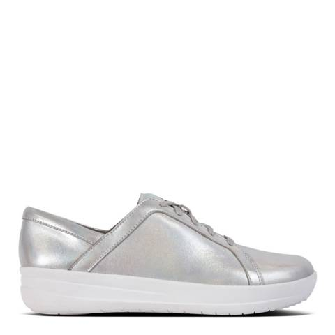 FitFlop Silver Leather F-Sporty II Iridescent Sneakers