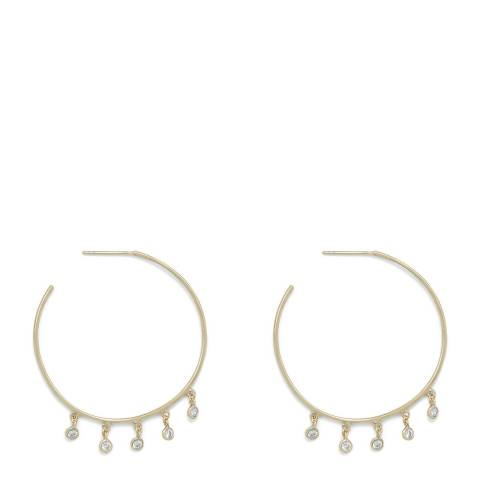 Chloe Collection by Liv Oliver Rose Gold Plated Crystal Earrings