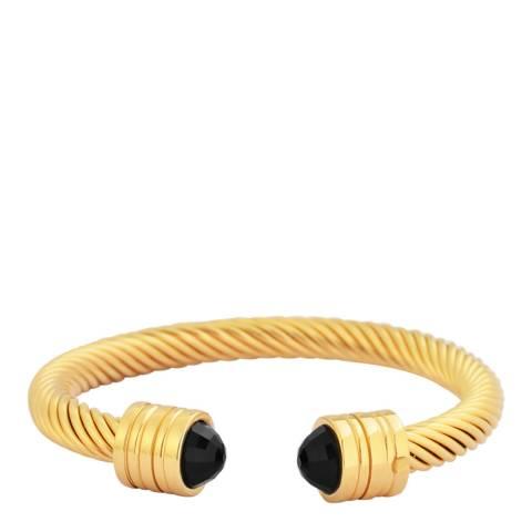 Chloe Collection by Liv Oliver Gold Plated Black Crystal Bracelet