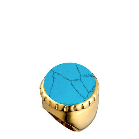 Chloe Collection by Liv Oliver Gold / Turquoise Ring