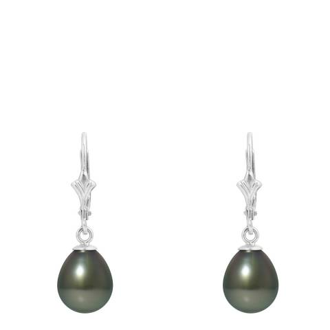 Mitzuko White Gold Earrings with Real Cultured Tahiti Pearls