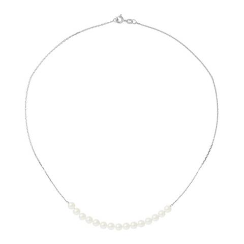 Mitzuko White Gold Real Cultured Freshwater Pearl Necklace
