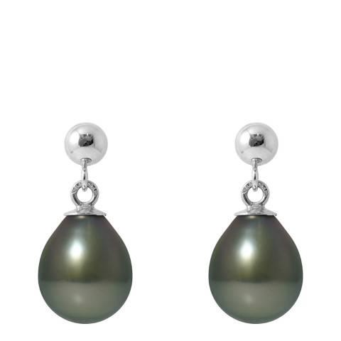 Mitzuko Freshwater Pearl White Gold Hanging Earrings