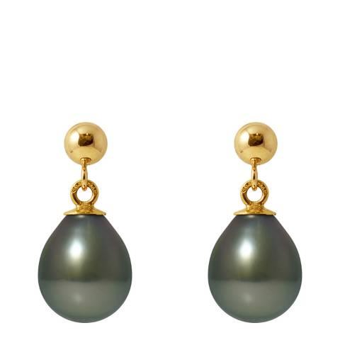 Mitzuko Freshwater Pearl Yellow Gold Hanging Earrings