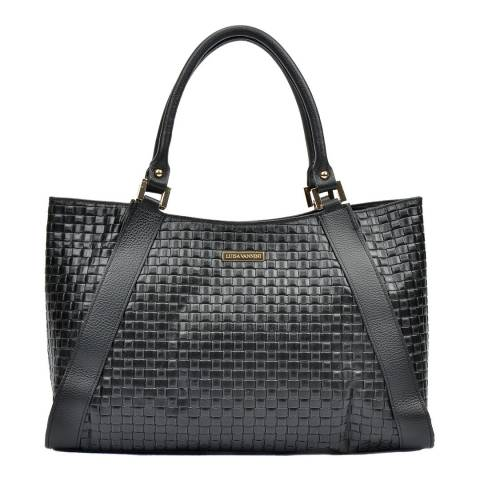Luisa Vannini Black Top Handle Bag