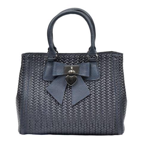 Luisa Vannini Blue Luisa Vannini Front Bow Detail Bag