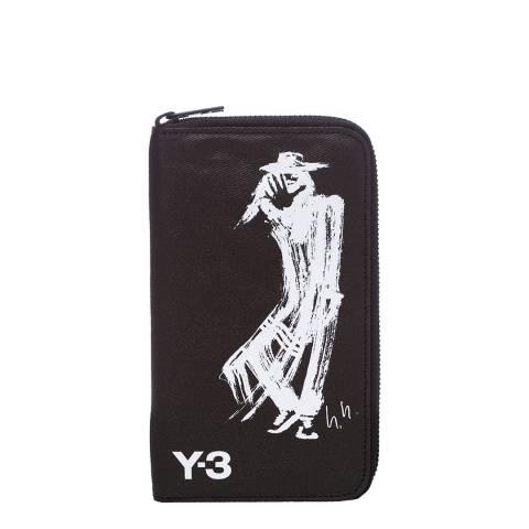 adidas Y-3 Black Yoji Large Zip Wallet