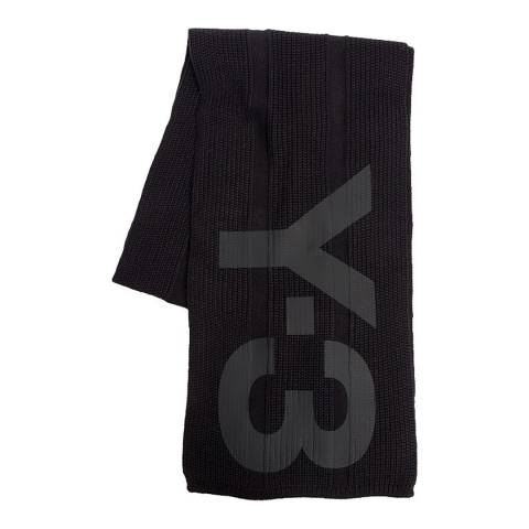 adidas Y-3 Black Y-3 Cotton Blend Scarf