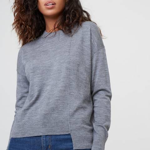 Rodier Grey Round Neck Wool Jumper