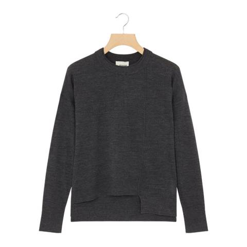 Rodier Charcoal Round Neck Wool Jumper