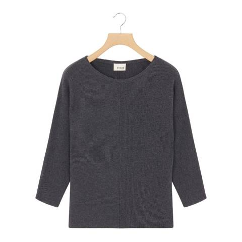 Rodier Grey Round Neck Cashmere Mix  Jumper