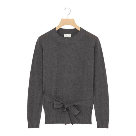 Rodier Dark Grey Cashmere Mix Round Neck Pullover