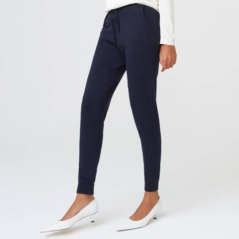 Rodier Navy Cashmere Mix Trouser
