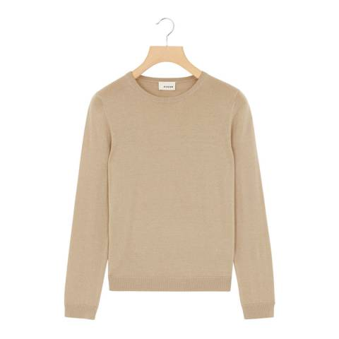 Rodier Beige Wool Round Neck Jumper