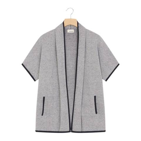 Rodier Grey Cashmere Mix Cardigan