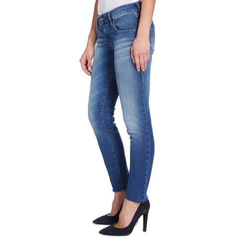 Diesel Washed Blue Grupee Skinny Stretch Jeans
