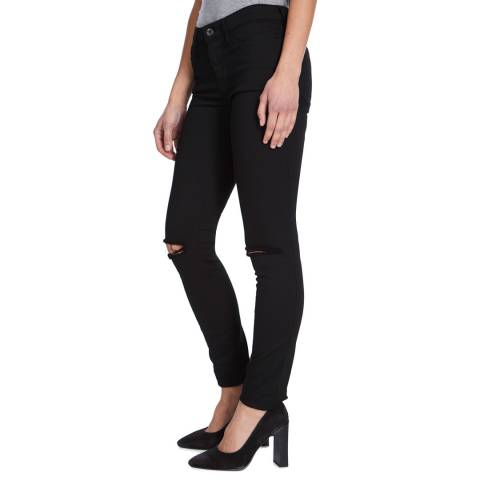 Diesel Black Super Skinny Stretch Ripped Jeans