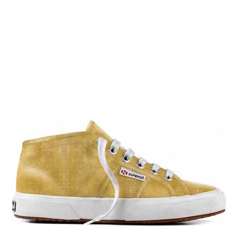 Superga Gold 2754 Cotmetu Metallic Hi-Top Sneakers