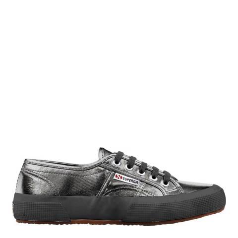 Superga Grey Black Metallic 2750 Sneakers