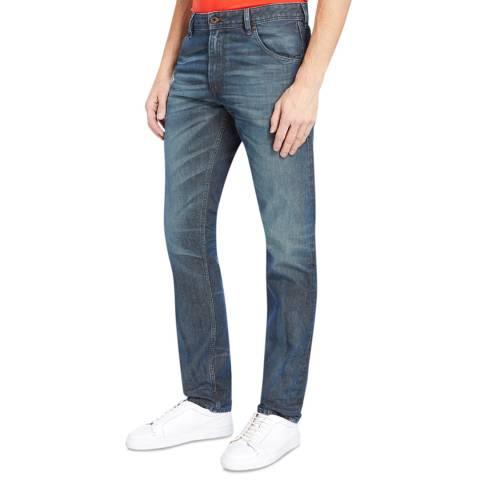 Diesel Blue Denim Krayver Slim Skinny Jeans