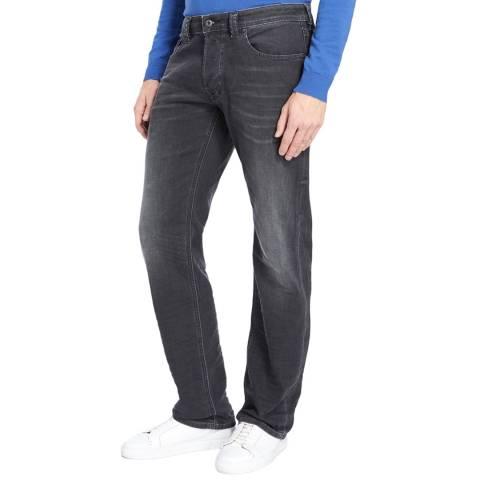 Diesel Dark Grey Larkee Straight Stretch Jeans