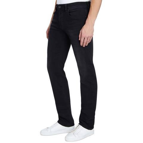 Diesel Black Denim Safado Straight Stretch Jeans