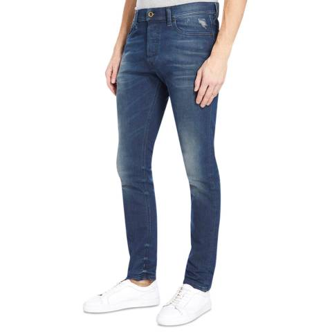 Diesel Wash Blue Tepphar Slim Stretch Jeans