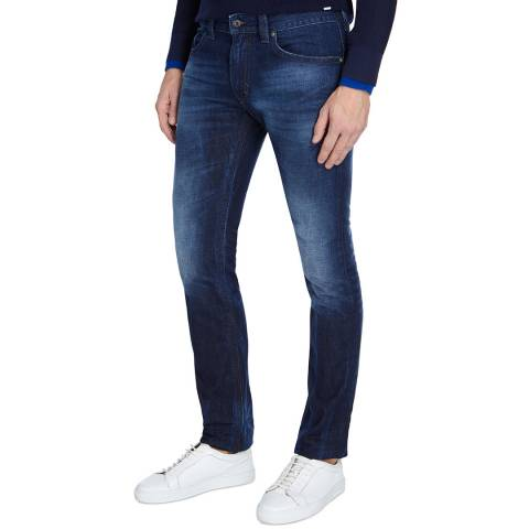 Diesel Blue Denim Thavar Slim Skinny Jeans