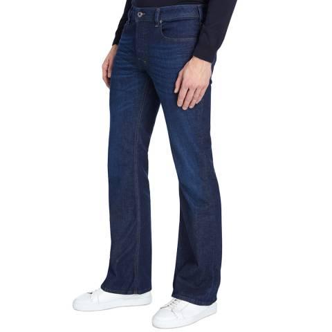 Diesel Dark Denim Zathan Bootcut Stretch Jeans