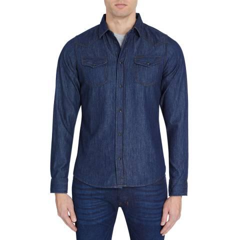 Diesel Washed Blue Denim Sonora Cotton Shirt