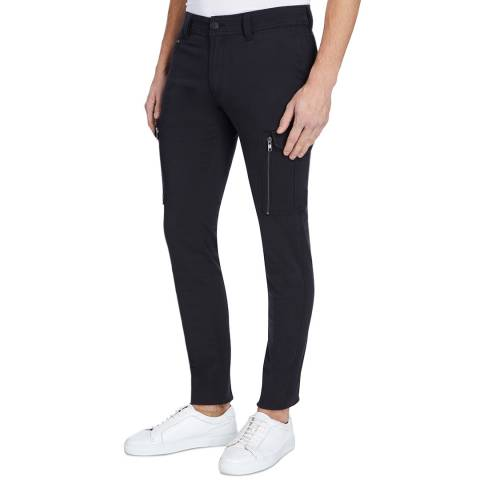 Diesel Navy Groove Cotton Cargo Trousers