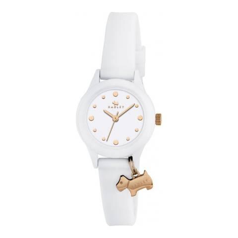 Radley White Dial & White Strap Watch