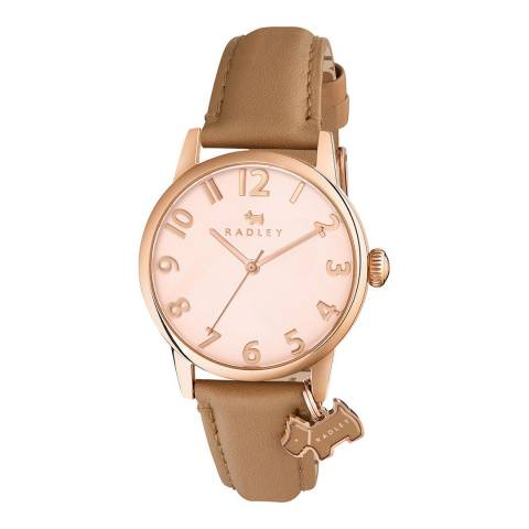 Radley Rose Gold Dial & Nude Strap Watch