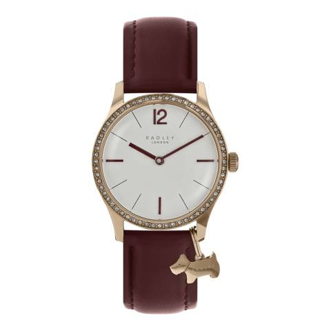 Radley Pale Silver White Satin Dial & Port Strap Watch