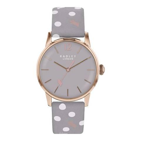Radley Ash Gloss Dial & Ash Print Strap Watch