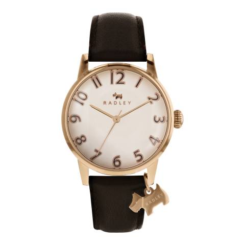 Radley Pale Rose Gold Satin Dial & Cocoa Strap Watch